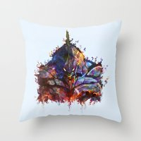 evangelion Throw Pillows featuring Evangelion by ururuty