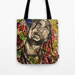 La flame,music,hiphop,poster,astro world,tour,wall art,artwork,painting,colourful Tote Bag