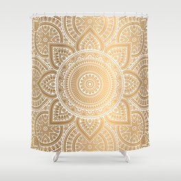 Gold Mandala 3 Shower Curtain