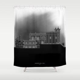 HexArchi - Portugal, Tomar, Convento de Cristo Shower Curtain