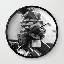 Locked love Wall Clock
