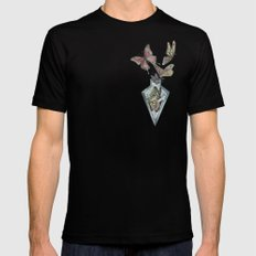 Butterfly Bottle  Black MEDIUM Mens Fitted Tee