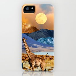 Giraffe Oasis iPhone Case