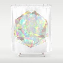 Milky White Opal Shower Curtain