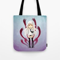 anxiety Tote Bags featuring Anxiety by Freeminds