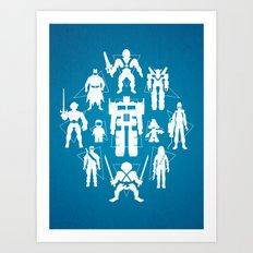 Plastic Heroes Art Print