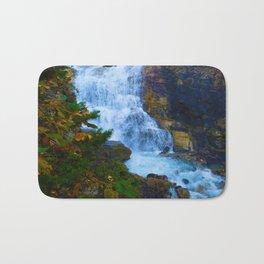White Falls along the Berg Lake Trail in BC Bath Mat