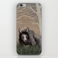 beastie boys iPhone & iPod Skins featuring Forest Beastie by Mr Patch