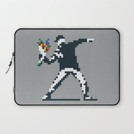 Flower Thrower Graffiti Pixel Laptop Sleeve