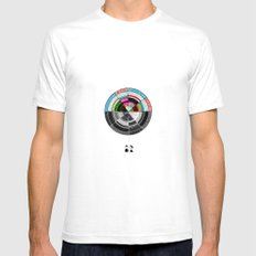 Contrast  White SMALL Mens Fitted Tee