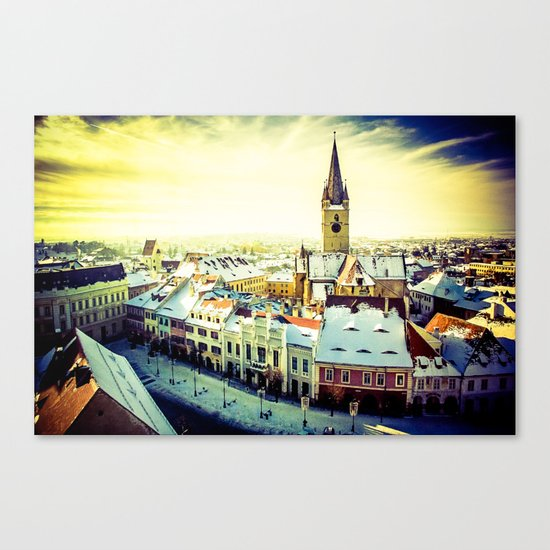 Cityscape of Sibiu, Romania Canvas Print