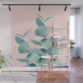 Eucalyptus Leaves Green Blush #1 #foliage #decor #art #society6 Wall Mural