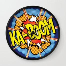 Ka Boom Pop Art Wall Clock