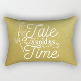 Tale As Old As Time - Beauty and the Beast (gold) Rectangular Pillow