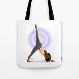 Three-Legged Downward Dog Pose Tote Bag