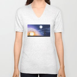 Running in Circles by Lars Furtwaengler | Colored Pencil | 2015 Unisex V-Neck