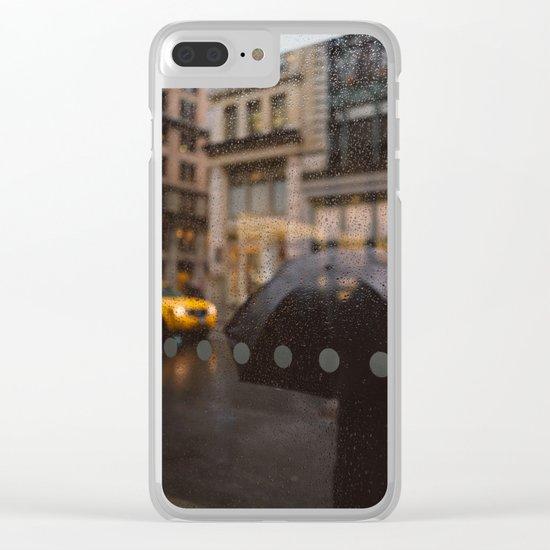 Rainy Manhattan Clear iPhone Case