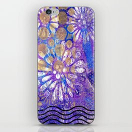 Pattern in Purples and Blues iPhone Skin