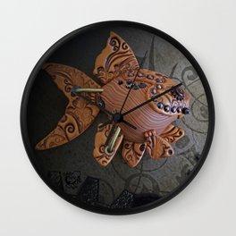 Steampunk Goldfish Wall Clock