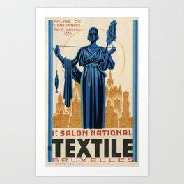 1938 Art deco Textile Expo Brussels Art Print