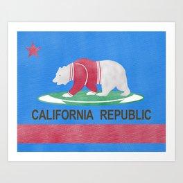 Polar Bear In California Art Print