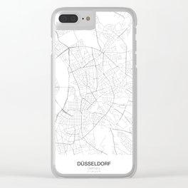Düsseldorf, Germany Minimalist Map Clear iPhone Case
