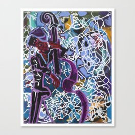 Jazz Bassist Canvas Print