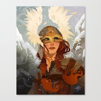 viking Canvas Prints featuring Viking by Hannah Christenson