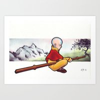 the last airbender Art Prints featuring The Last Airbender by Warbunny