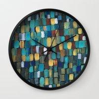 klimt Wall Clocks featuring New Klimt  by Angela Capacchione