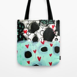 Falling Hearts Tote Bag