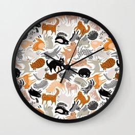 Cats Forever by Veronique de Jong Wall Clock
