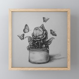 Hungry Framed Mini Art Print