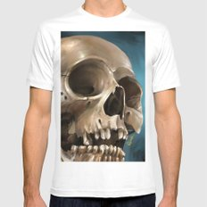 Skull 1 MEDIUM Mens Fitted Tee White