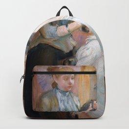 La Coiffure by Berthe Morisot Backpack