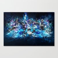 mythology Canvas Prints featuring Mythology by theycallmeteddy