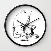 fishing Wall Clocks featuring Fishing by Freeminds