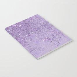 Modern elegant lavender lilac glitter marble Notebook
