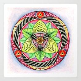 Sun/flower Mandala Art Print