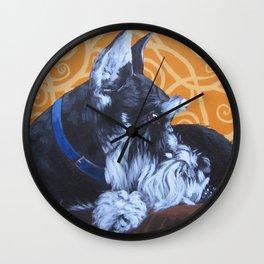 Remmington Schnauzer Wall Clock