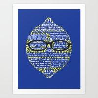 liz lemon Art Prints featuring Lemon by Staberella