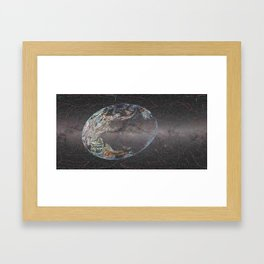 Galactic Coordinates Over Milky Way by Hatart [Includes Constellations] Framed Art Print