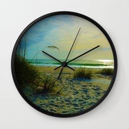 The Beach on Little Gasparilla Island , Florida USA Wall Clock
