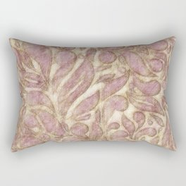 Abstract leaves - game with lines Rectangular Pillow
