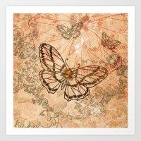 butterflies Art Prints featuring Butterflies by nicky2342