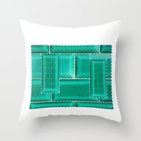architecture Throw Pillows featuring ARCHITECTURE by BIGEHIBI