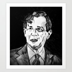 43. Zombie George W. Bush  Art Print