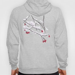 Winter Berries Branches Covered In Snow Hoody