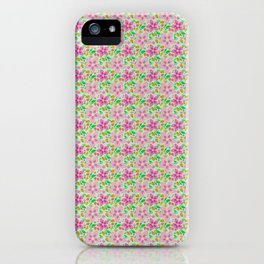Floral Seamless Pattern iPhone Case