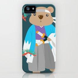 Kuma Bear - Shinsengumi iPhone Case